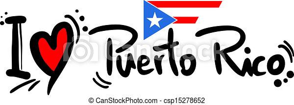 Love puerto rico - csp15278652