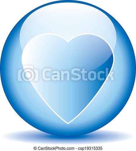 Love sign button - csp19315335
