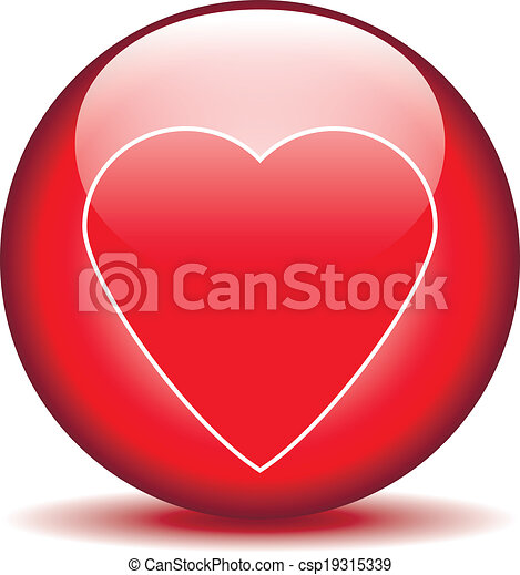 Love sign button - csp19315339