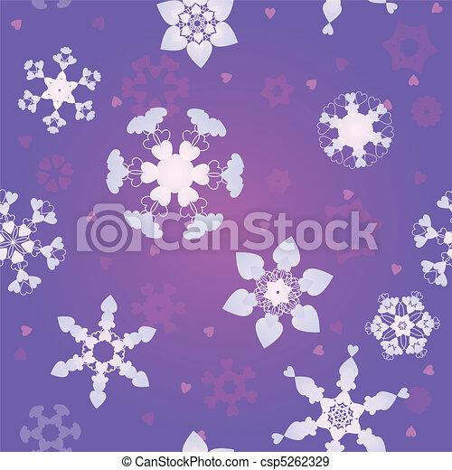 Love snowfall - csp5262329
