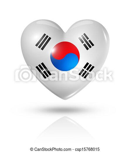 Love south korea, heart flag icon. Love south korea symbol ...