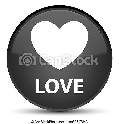 Love special black round button - csp50507843