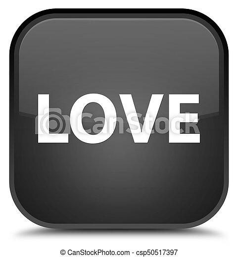 Love special black square button - csp50517397