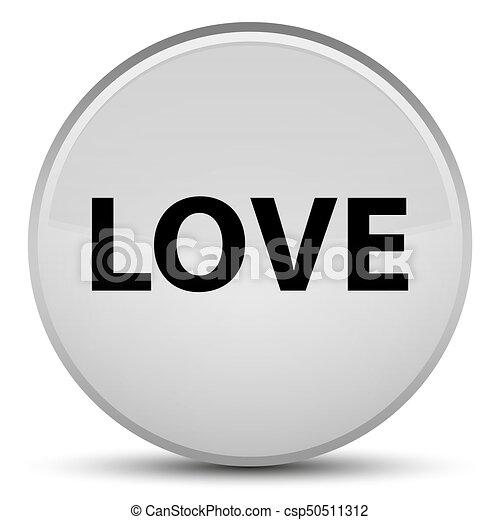 Love special white round button - csp50511312