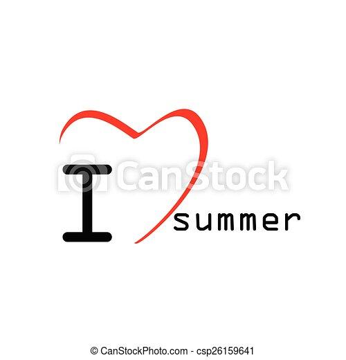 Love Summer Icon Vector