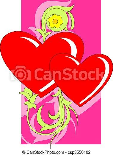 Love Symbol Illustration Of Decorative Love Symbols