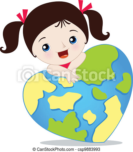 love the earth vectors search clip art illustration drawings and rh canstockphoto com Clip Art Globes Earth World Leaky Faucet Clip Art