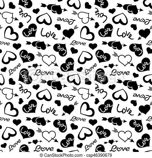 Love theme hearts valentine's day seamless pattern background