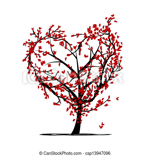 Love tree for your design - csp13947096