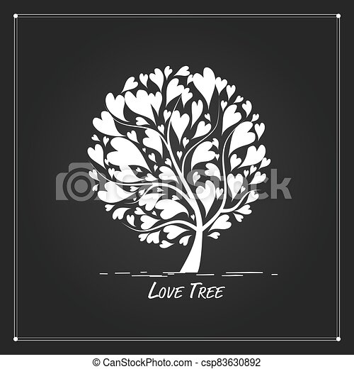 Love tree for your design - csp83630892