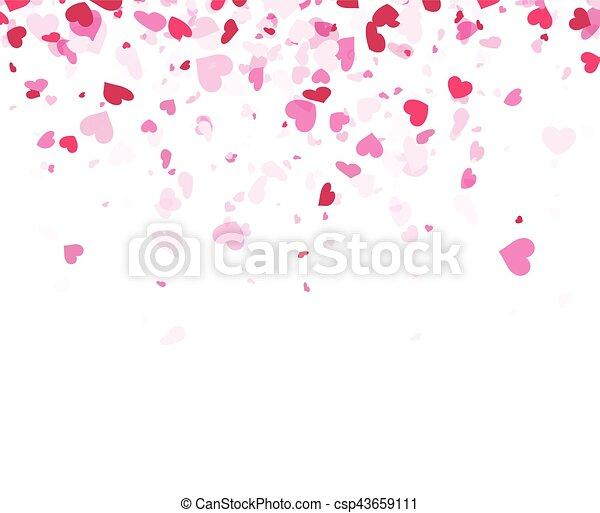 Love valentine's background with hearts. - csp43659111