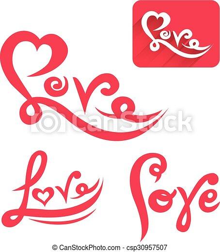 Love vector - csp30957507