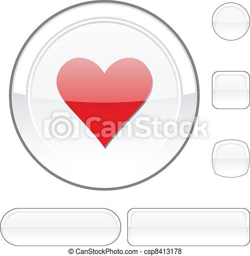 Love white button. - csp8413178
