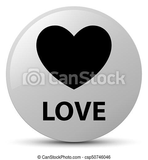 Love white round button - csp50746046