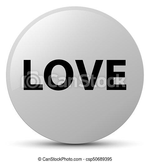 Love white round button - csp50689395