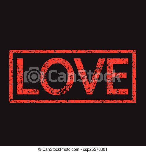 Love word illustration - csp25578301