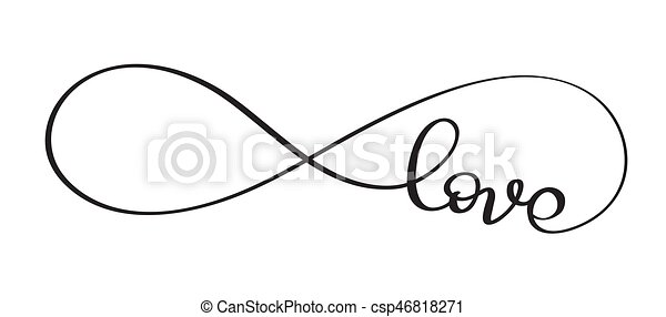 love word in the sign of infinity vector calligraphy and lettering