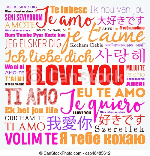 Love Words I Love You In All Languages Csp