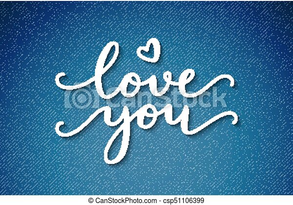 love you lettering - csp51106399