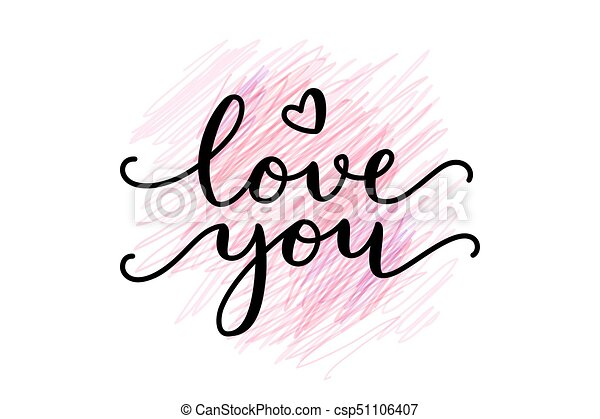 love you lettering - csp51106407