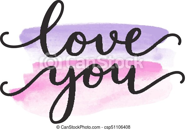 love you lettering - csp51106408