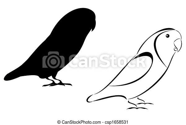 a tribal and silhouette lovebirds set clipart search illustration rh canstockphoto com love bird clipart black and white love bird clip art free