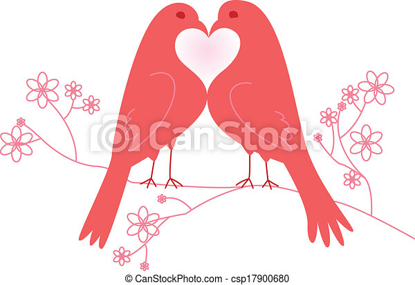 lovebirds., dzień, valentine - csp17900680