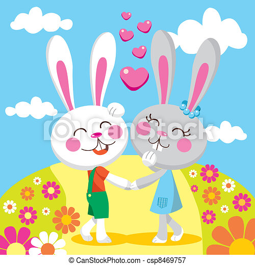 Lovely Bunny Date - csp8469757