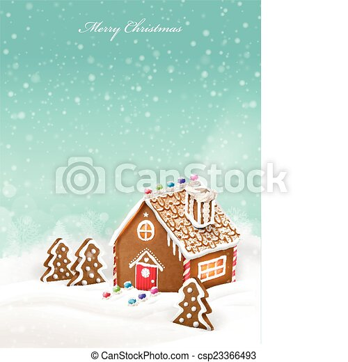 lovely Christmas gingerbread house - csp23366493