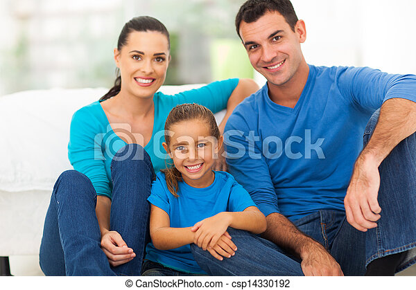 lovely family at home - csp14330192