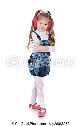 Lovely fashion little girl - csp26068063