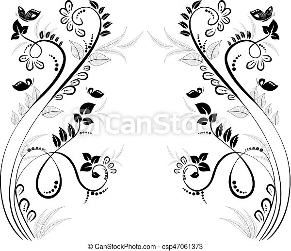 lovely floral frame for your design - csp47061373