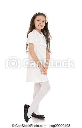 Girl White Tights