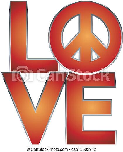 LOVE=Peace - csp15502912