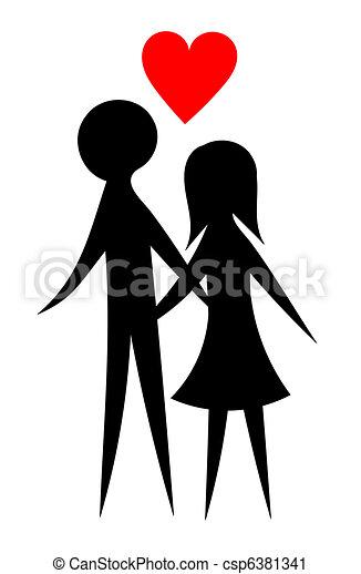 Lovers couple - csp6381341