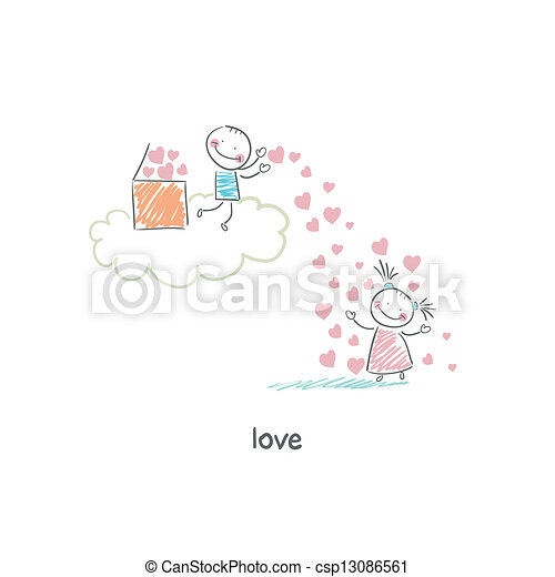 Lovers. Illustration. - csp13086561