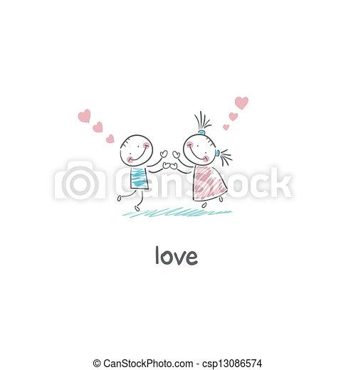 Lovers. Illustration. - csp13086574