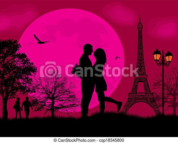 Lovers in Paris - csp18345800
