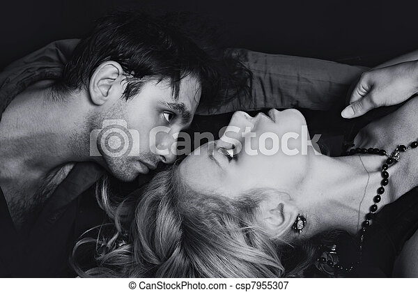 lovers looking at each other - csp7955307