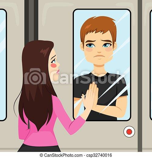 Lovers Train Scene - csp32740016