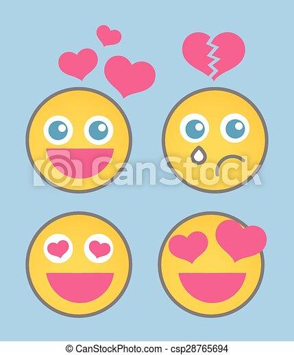 Lovestruck Smiley Set - csp28765694