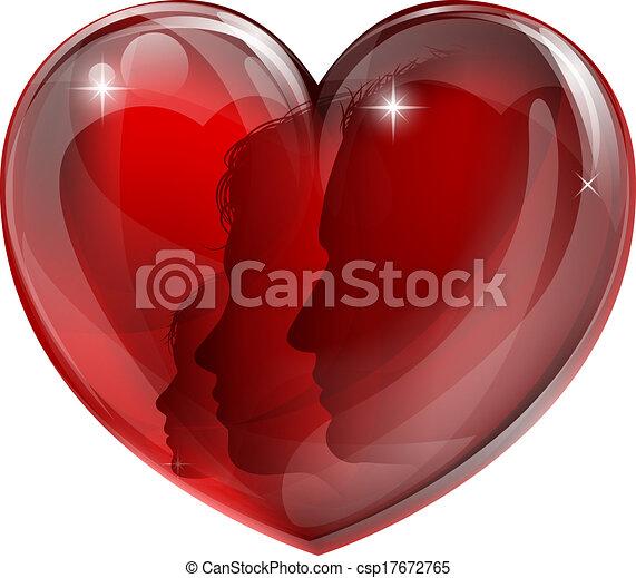 Loving family heart - csp17672765