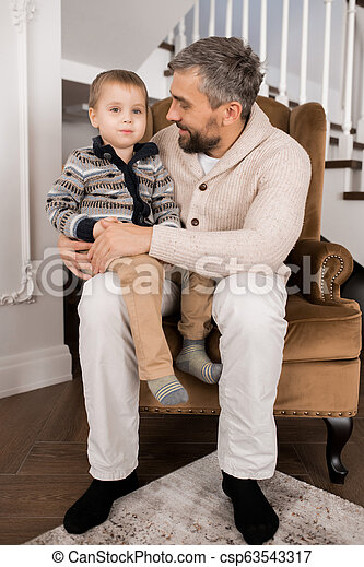 Loving Father and Son - csp63543317