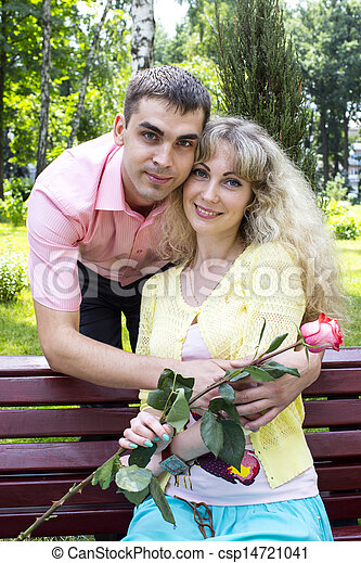 loving girl and guy - csp14721041