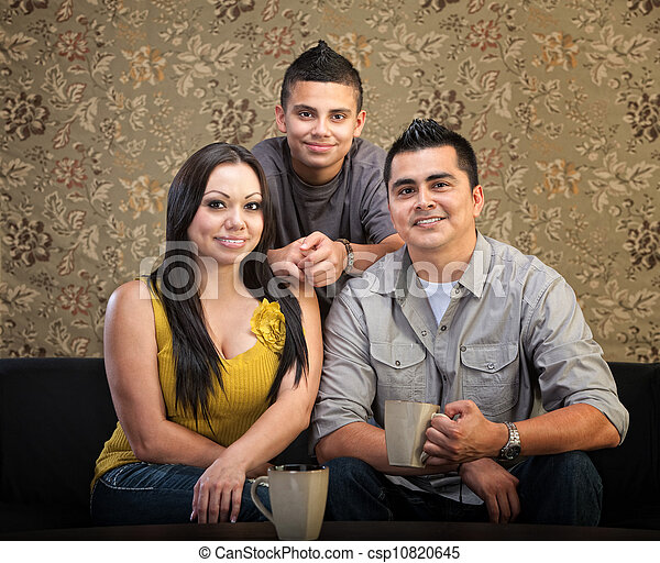 Loving Hispanic Family - csp10820645
