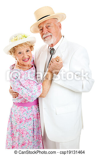 Loving Senior Couple Dancing - csp19131464