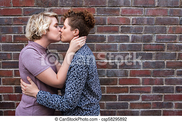 Old Young Lesbian Kissing