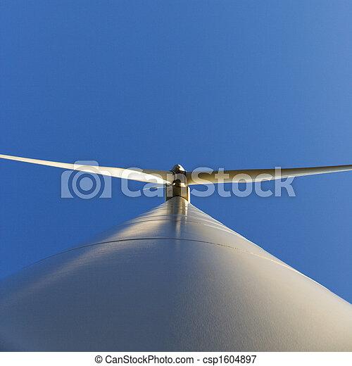 Low angle of wind turbine. - csp1604897