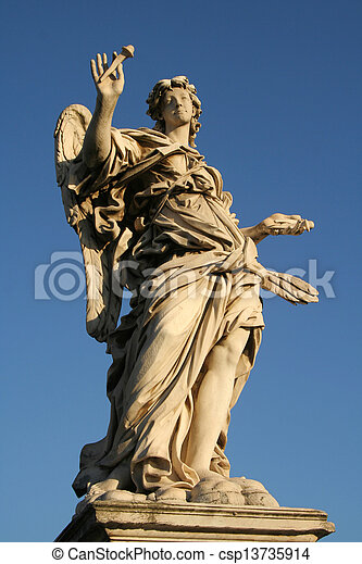 Low angle view of a statue - csp13735914