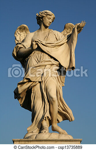 Low angle view of a statue - csp13735889